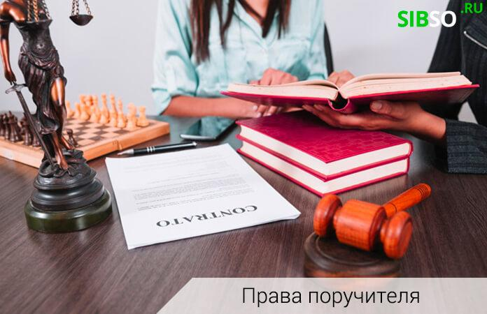 права при поручительстве - изображение