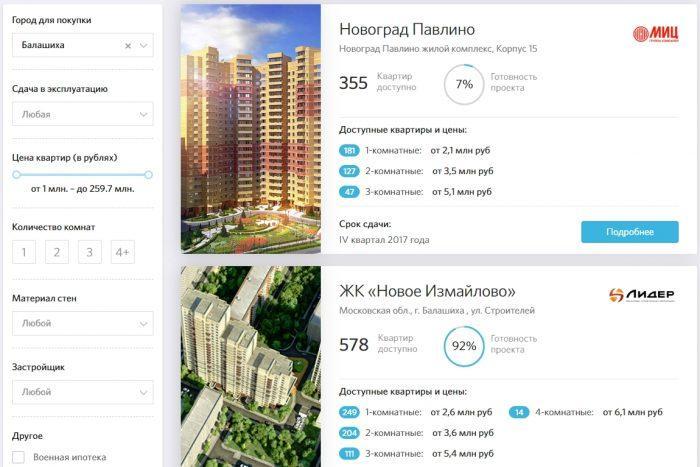 подбор квартиры в кредит - картинка