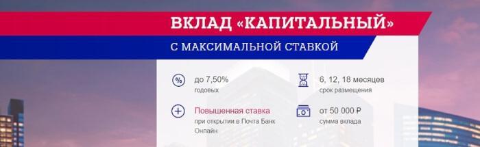 Почта банк вклады и проценты