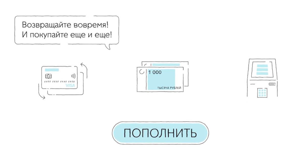 пополнение карты киви банка - скриншот